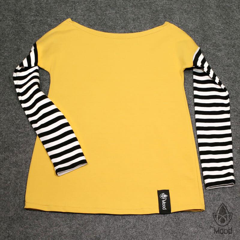 triko The Mood Yellow Stripe