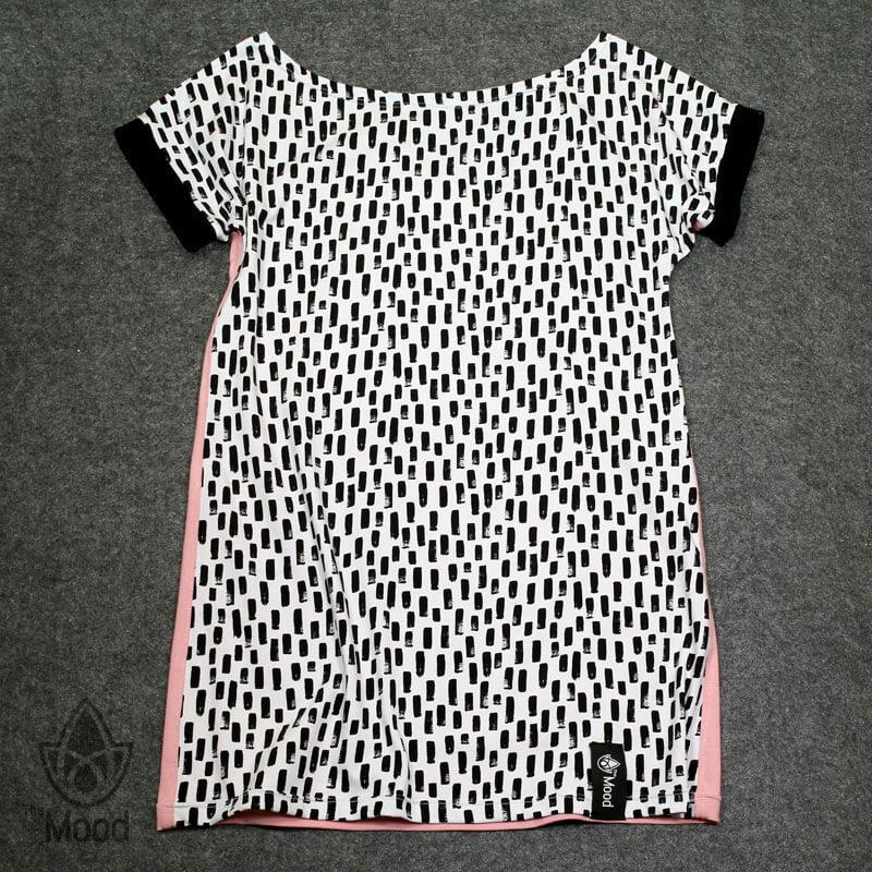 šaty Pink White